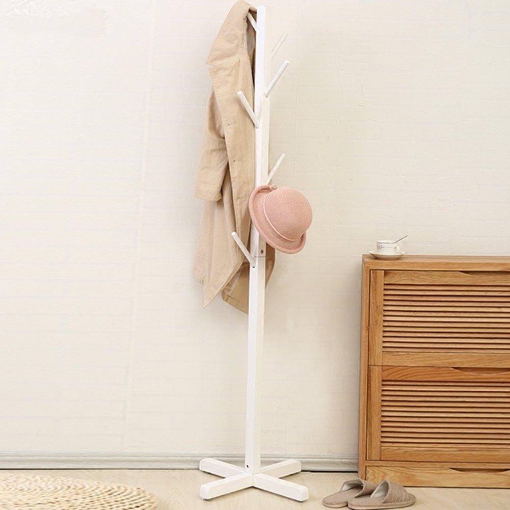 Standing木製コートラック帽子ラック、防水木製服ハンガーホルダーラック省スペースフック強力な安定Assemble Cloakroom寝室リビングルーム帽子コートジャケットスカーフ 165cm QWER B0792YDGH1 A 165cm