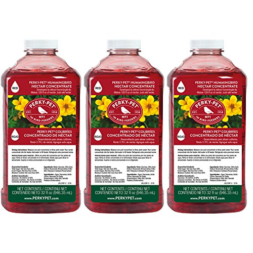 Perky-Pet 238 32 fl oz Red Hummingbird Nectar Concentrate - 3 Pack by Perky-Pet