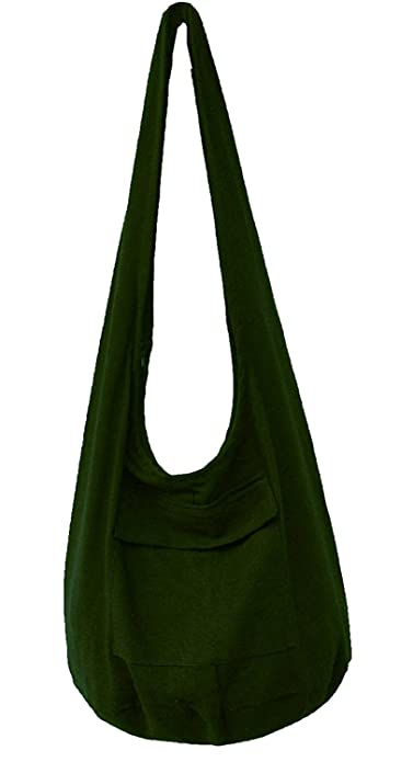 ee6b69ac1c Amazon.com  Zerstyle Color Cotton Sling Crossbody Thai Handmade Bag (Olive  Green)  Shoes