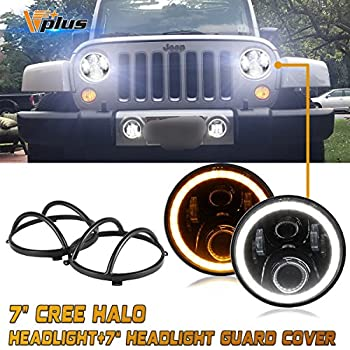 Logical 7 50w Round Led H4 Headlight Bulb With White Halo Ring Angel Eye Offroad Projector Lighting Replacement For Jeep Wrangler Jk Special Buy Automobiles & Motorcycles Car Light Assembly