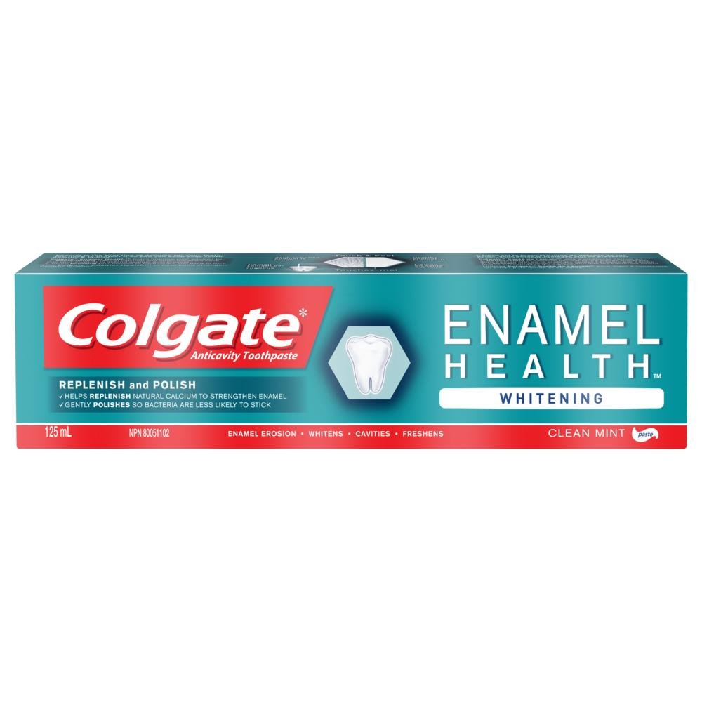 Colgate Enamel Health Whitening Fluoride Toothpaste - Clean Mint Paste Formula (125 mL, Pack of 1) Colgate-Palmolive CA 320975