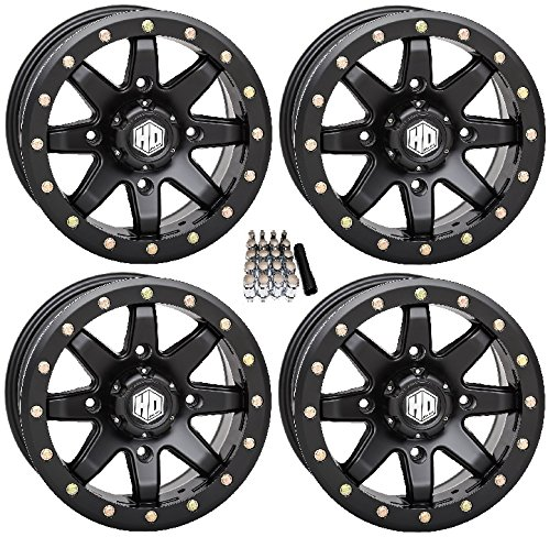 (STI HD9 Beadlock UTV Wheels/Rims Matte Black 14