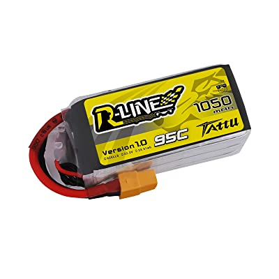 Tattu R-Line 1050mAh 95C 6S LiPo Battery Pack with XT60 Plug for Professional FPV Racing: Home Audio & Theater