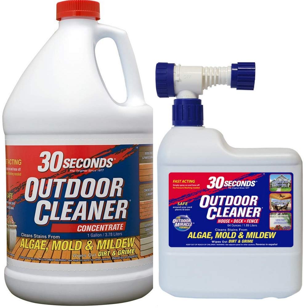 30 Seconds Outdoor Cleaner, 1 Gallon and 64 oz Hose End- Concentrate by 30 SECONDS Cleaners (Image #2)