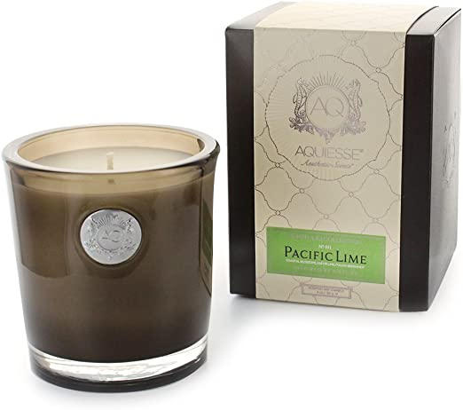 White Aquiesse Pacific Lime Soy Candle Amazon Ca Electronics