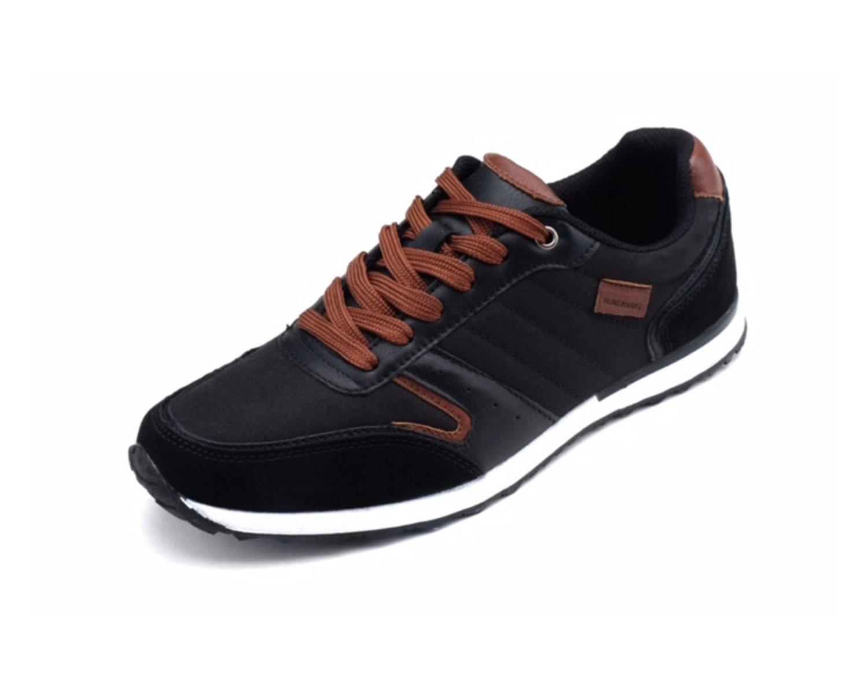 runs kings New Light Weight Go Easy Walking Casual Men Tennis Shoes Sneakers (R7277) B07B8846NX 12 D(M) US|Black/Brown
