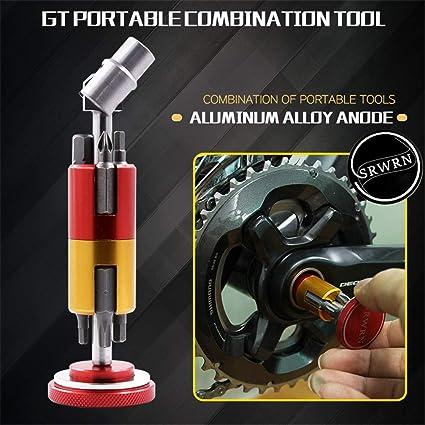 Aluminum Bicycle Invisible Repair Tool Set Multi Function Portable  Screwdriver