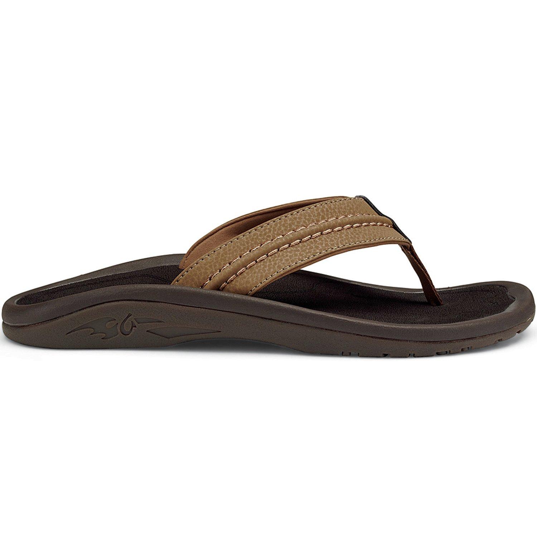 Tan tan OluKai Men's Hokua Thong Sandal