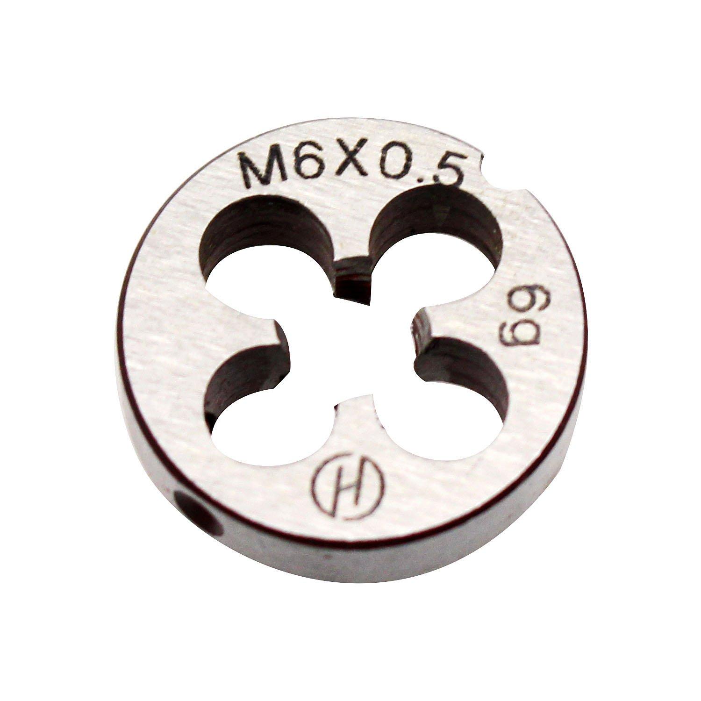 6mm X 0.5 Metric Right Hand Round Die, Machine Thread Die M6 X 0.5mm Pitch by KMIAN TOOLS