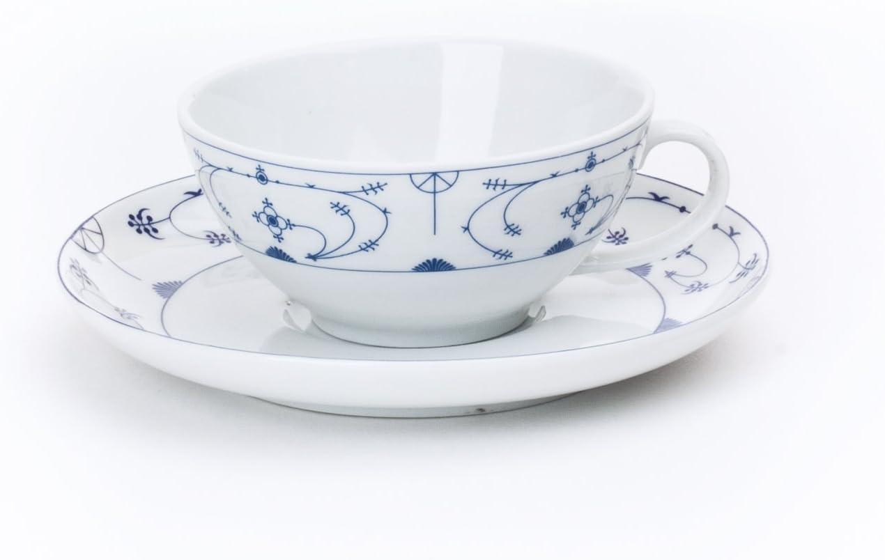 Ocean-Line Kuchenteller Frühstücksteller Indisch Blau Strohblume  Porzellan