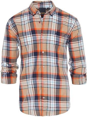 ALTONADOCK Camisa Cuadros Beige y Azul: Amazon.es: Ropa