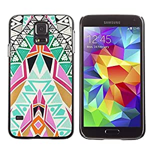 PC/Aluminum Funda Carcasa protectora para Samsung Galaxy S5 SM-G900 Art Patterns Colorful Spiritual / JUSTGO PHONE PROTECTOR