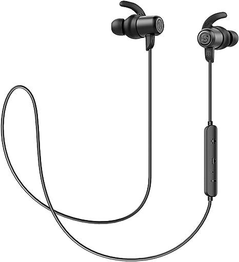 SoundPEATS Auriculares Bluetooth 5.0 Inalámbricos Magnéticos Value Cascos Deportivos con Micrófono IPX6 Manos Libres Hi-Fi Sonido hasta 7h