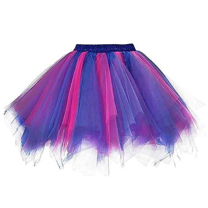 Bestyyo Falda de Tul para niña, diseño de Princesa, Arco Iris, con ...