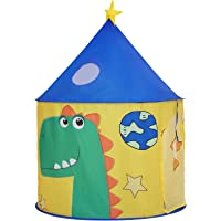 SONGMICS Play Tent för småbarn, inomhus- och utomhusslott, bärbar pop-up-lekteepee med bärväska, lekstuga med…