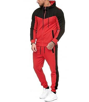4bcfa482520 Violento - Ensemble Jogging Sportswear Survêt 986 Rouge et Noir - XL - Rouge