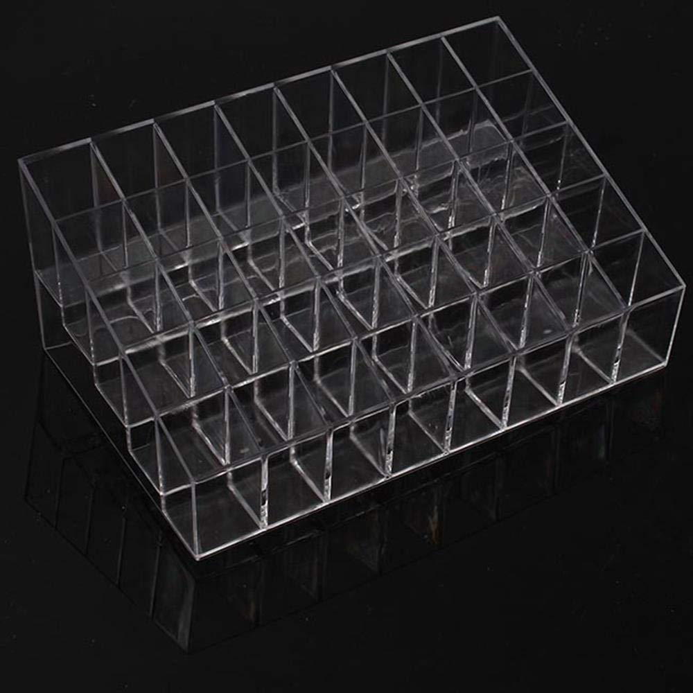 MTOFAGF Home Storage Box 40 Trapezoid Cosmetic Makeup Display Lipstick Stand Holder Box Jewelry Storage MTOFAGF Brings You The Best