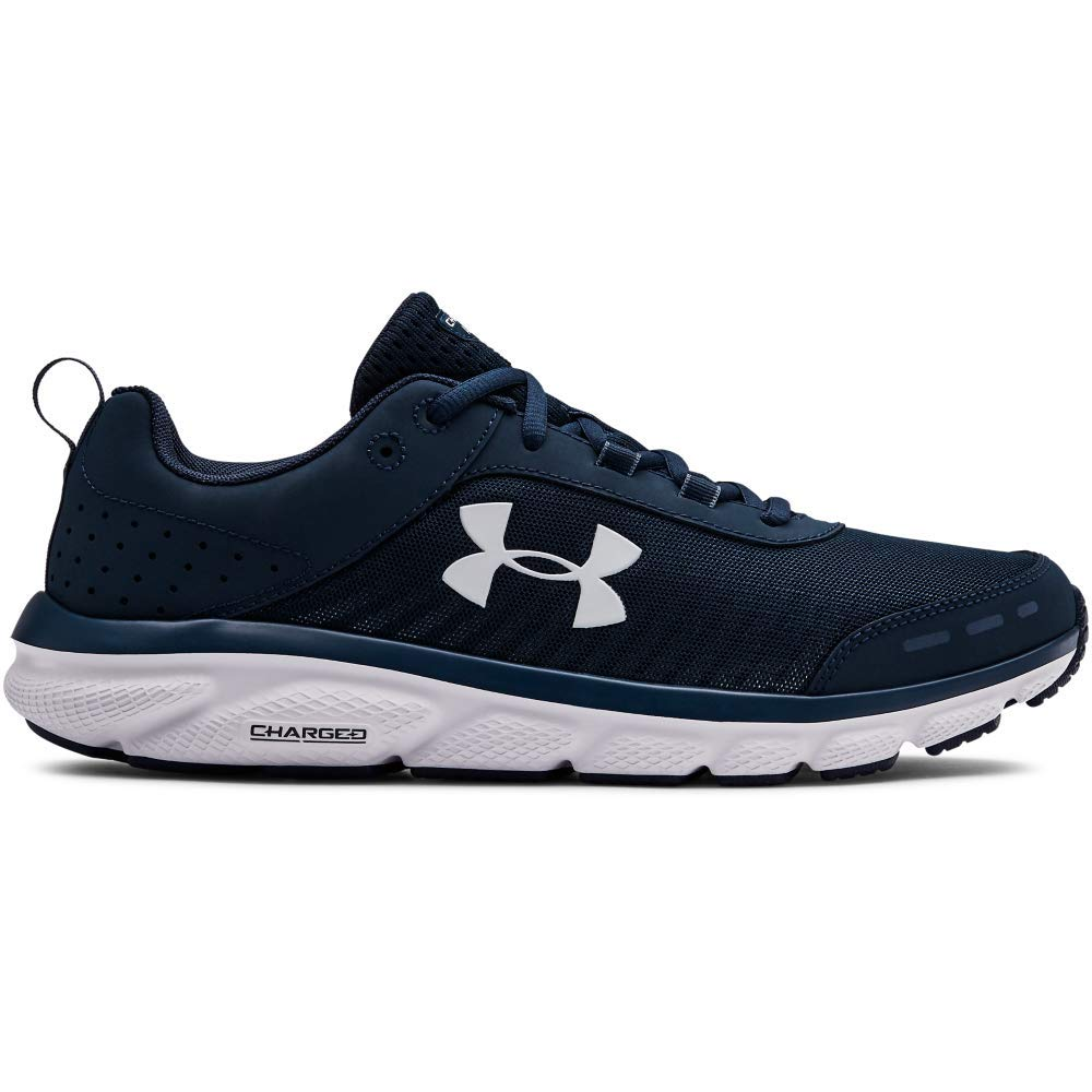 Under Armour Men's Charged Assert 8 Running Shoe, Academy (401)/White, 14 by Under Armour
