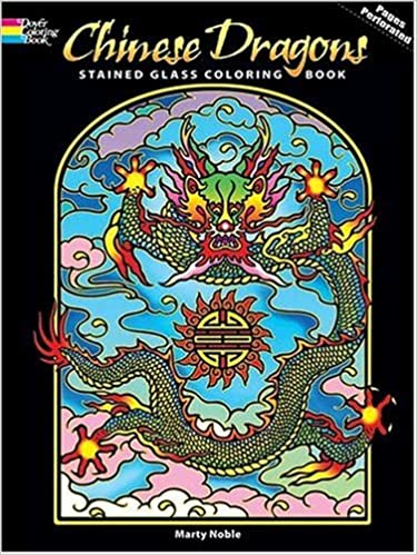 chinese dragons stained glass coloring book dover stained glass coloring book