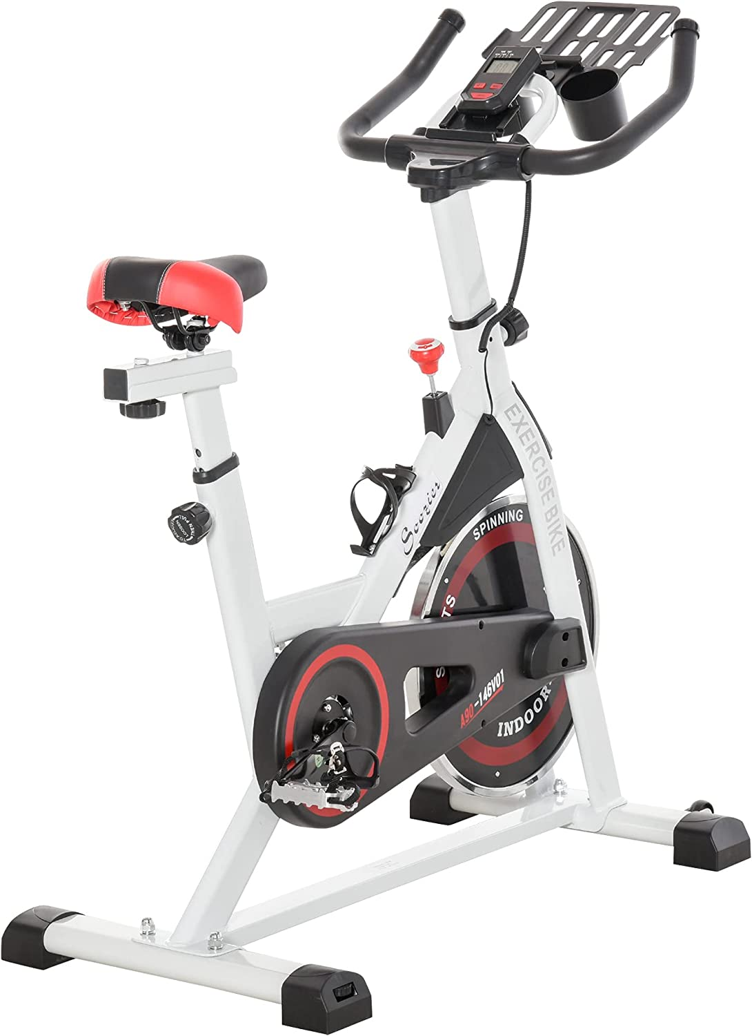 Details about  /Indoor Stationary Exercise Bike Cardio Sport Cycling Shock Absorption System LCD