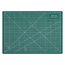 LeaningTech LTC-A4 Self Healing Cutting Mat 3-Ply Single Sided Non Slip Green Great for Scrapbooking, Quilting, Sewing and all Arts & Crafts Projects
