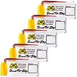 5pcs 3.7V 500mAh Upgrade LiPo Battery For Hubsan X4 H107L H107C H107D H107P H108 - Extra Flight Time - (Walkera Super CP…