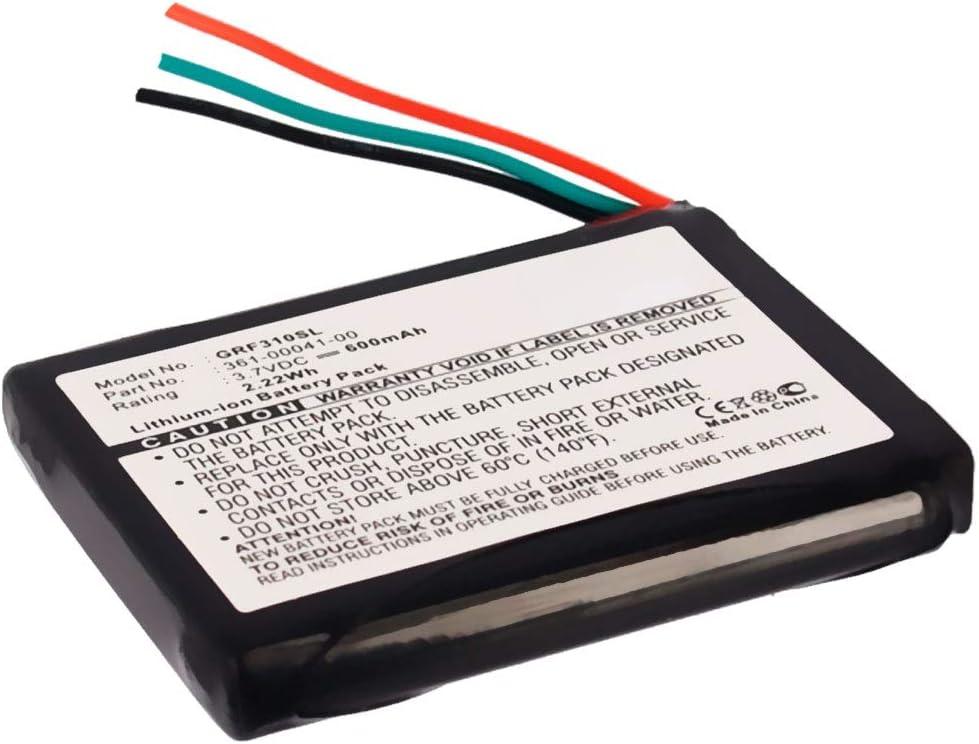 subtel® Batería Premium Compatible con Garmin Forerunner 310XT, 361-00041-00 600mAh Pila Repuesto bateria