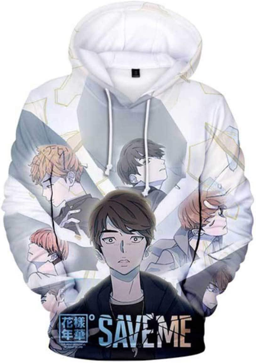 DHSPKN Kpop BTS Comic 3D Hoodie Save Me Cartoon Sweatshirt Jimin Jungkook Suga Jacket