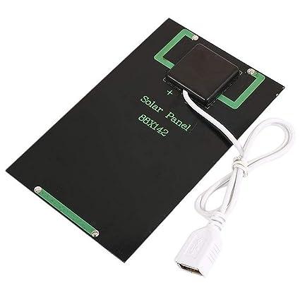 Jiobapiongxin 5W 5V Panel Solar Cargador de batería Módulo de Carga Solar Solar DIY Módulo USB