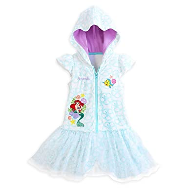 d11f05a75e6bc Image Unavailable. Image not available for. Color: Disney Store Princess  The Little Mermaid Ariel Girl Swimsuit Cover Up ...