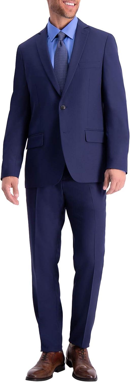 Haggar Men's Active Series Stretch Slim Fit Suit Separate Coat, Midnight, 42R