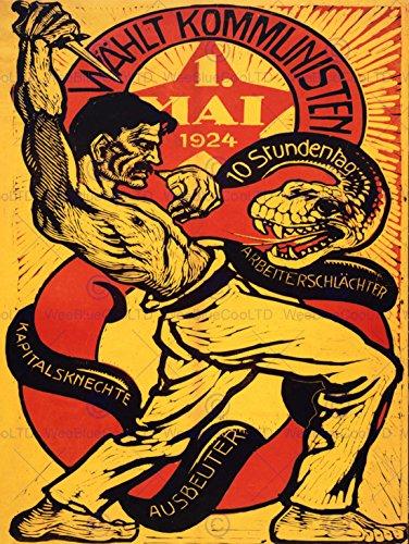 PROPAGANDA VOTE COMMUNIST CAPITALISM COMMUNISM SNAKE GERMANY POSTER BB6902B (Communist Propaganda Poster)