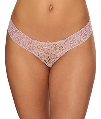 50cf8e1c6dd Hanky Panky Womens Sophia Lace Low Rise Thong In Bisious at Amazon Women's  Clothing store: