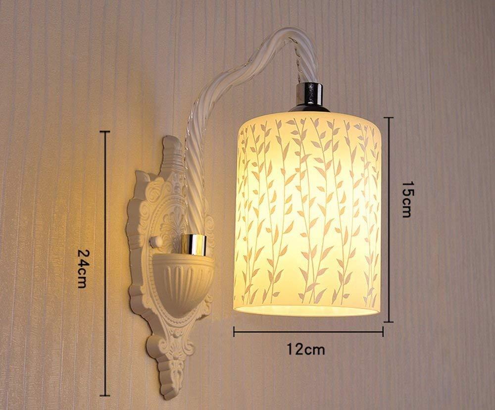 YWJWJ Lampada da Parete in Vetro Soggiorno Comodino Sala da Pranzo Sala Ristorante Studio Balcone Scale di Illuminazione