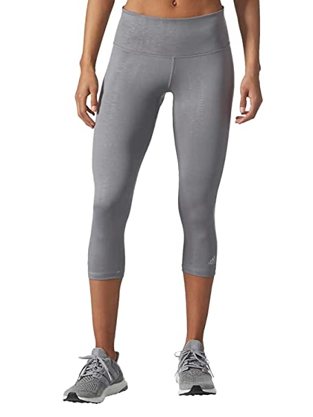 751f77ca2d1a7 Amazon.com: adidas Ladies' Ultimate Mid-Rise 3/4 Embossed Tight (Large,  Grey): Clothing