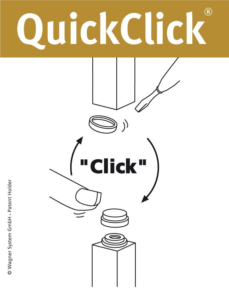 /Diametro 17/mm/ Wagner QuickClick/® Sedia gleiter////Set da avvitare////Ultra Soft Slim/ /15780200