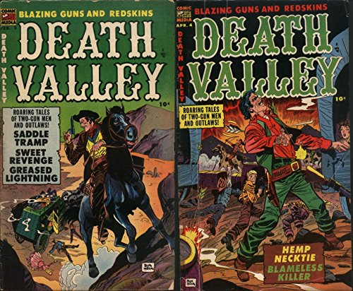 Death Valley. Issues 3 and 4. Roaring tales of two gun men and outlaws. Features saddle tramp, sweet revenge, greased lighting, hemp necktie and blameless ... Golden Age Digital Comics Wild West W