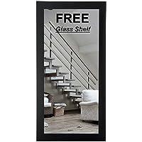 Creative Arts n Frames Long Full Length 15 x 40 inches Fiber Wood Wall Hanging Bathroom Mirror(Sober Black)