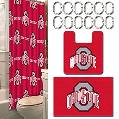 15 Pc. Ohio State University Bath-set