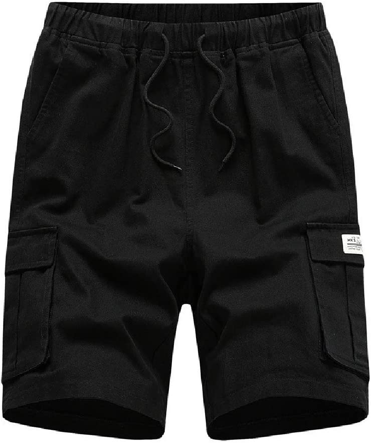Coolred Men's with Side Pockets Classic Oversized Elastic Waist Shorts