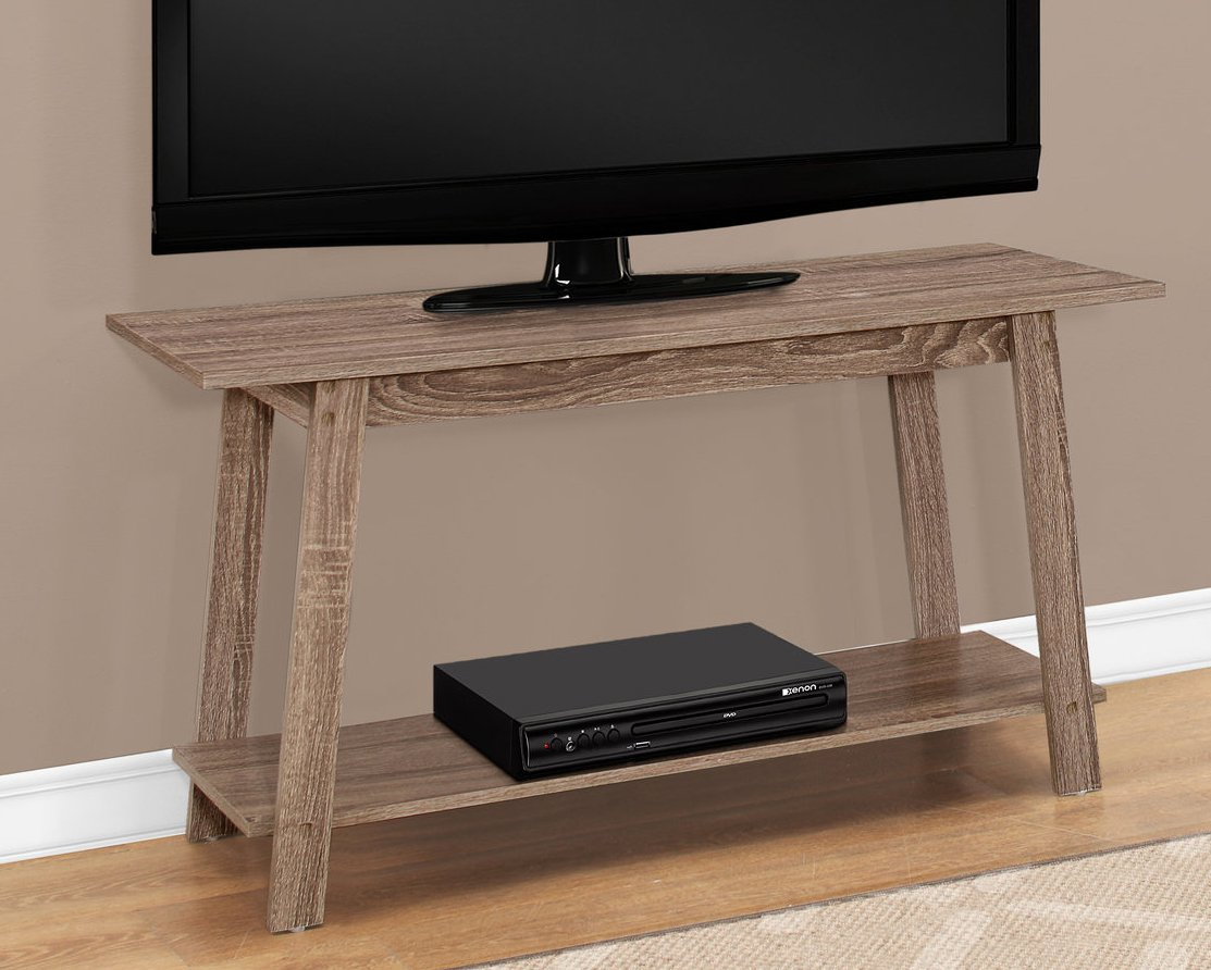 Monarch Specialties I I 2736 TV STAND-42 L, Dark Taupe by Monarch Specialties