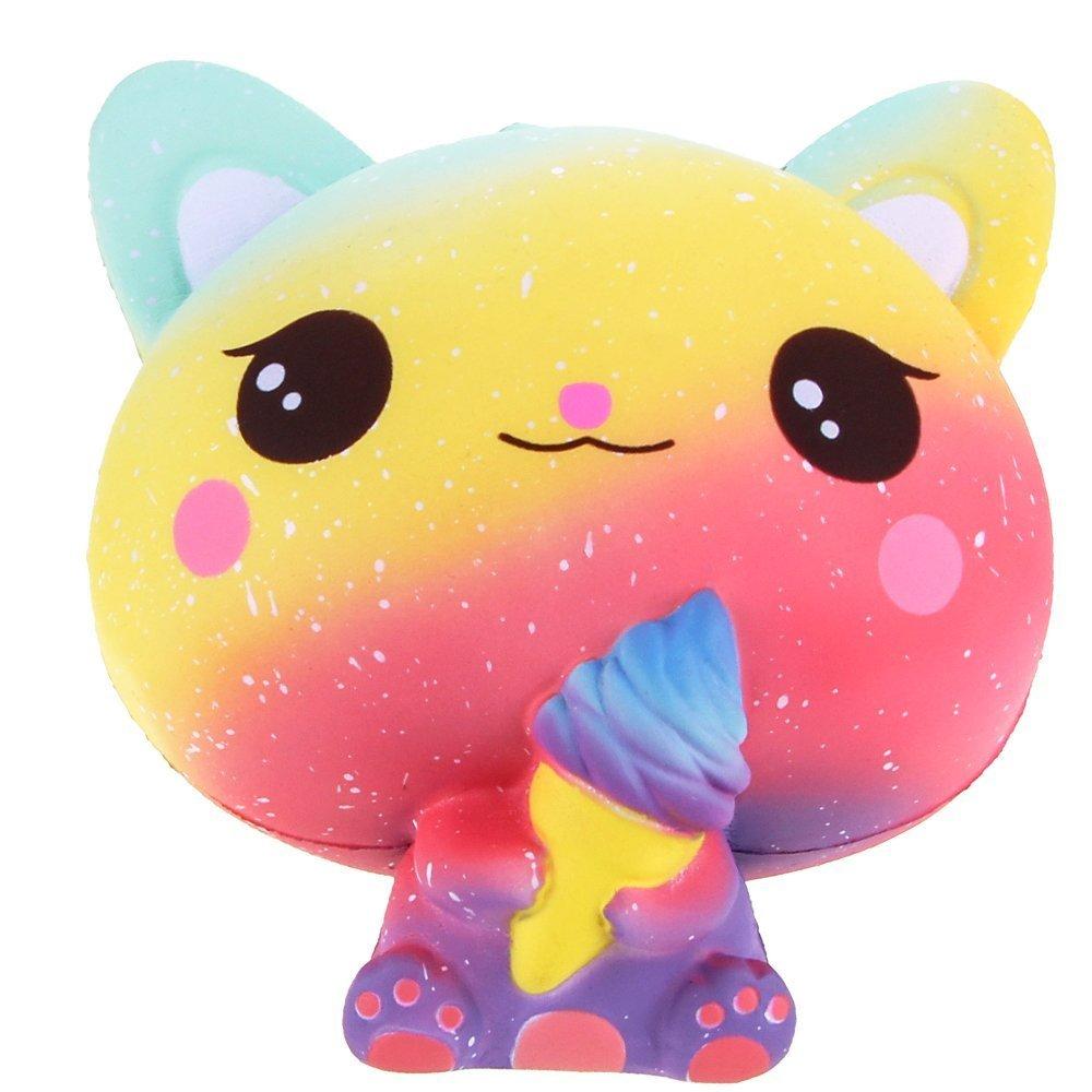 Fanceeast Squeeze Toys Squishies Jumbo - Gato de Helado para ...