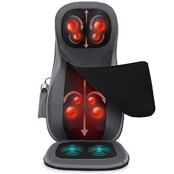 Amazon.com: Naipo - Cojín de asiento con masaje de espalda y ...