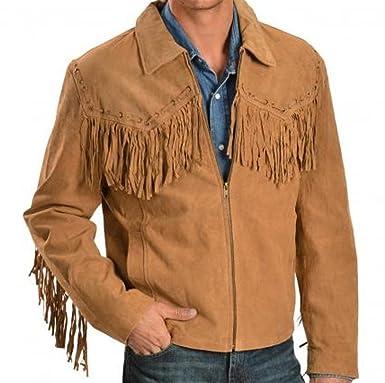 GWL Herren Western Cowboy Echtes Wildleder Lederjacken mit