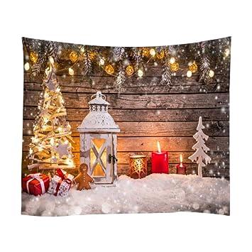 Etopfashion Tapiz de Navidad Fondo de Pared Paño Linterna Estrella Decoración del hogar Toalla de Playa para Sala de Estar Dormitorio Dormitorio: Amazon.es: ...
