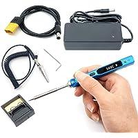 NovelLife TS100 65W Mini Kit de fer à souder électrique température ajustable écran OLED numérique Chauffage rapide avec Panne à souder TS B2 bloc d'alimentation cordon d'alimentation XT60