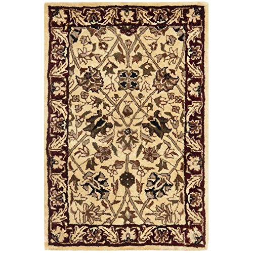 Safavieh Persian Legend Collection PL516A Handmade Traditional Ivory and Red Wool Area Rug (2' x 3') ()
