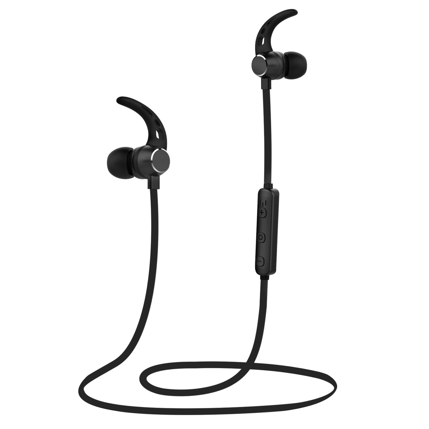 LOBKIN Wireless Headphones, Bluetooth 4.1 Lightweight Stereo Earbuds with Magnetic Connection, NANO Coating Sweatproof Sports Headset with Metallic Housing & Built-in Mic