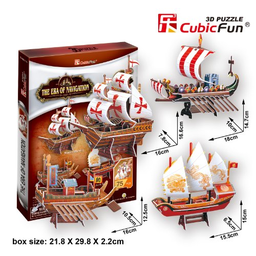 "CubicFun 3D Puzzle Ship-Series ""The Era of Navigation"""