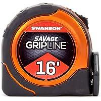 Swanson Tool SVGL16M1 16-Feet Magnetic Savage Grip Line Tape Measure